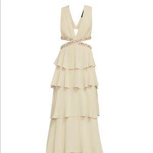 BCBG Maxazaria Thassia gown size 4.  Champagne